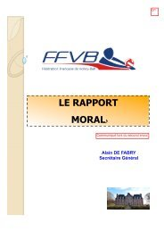 pages de garde - Extranet FFVB