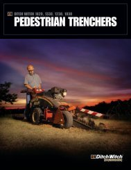 ditch witch pedestrian trencher literature - ditch witch australia