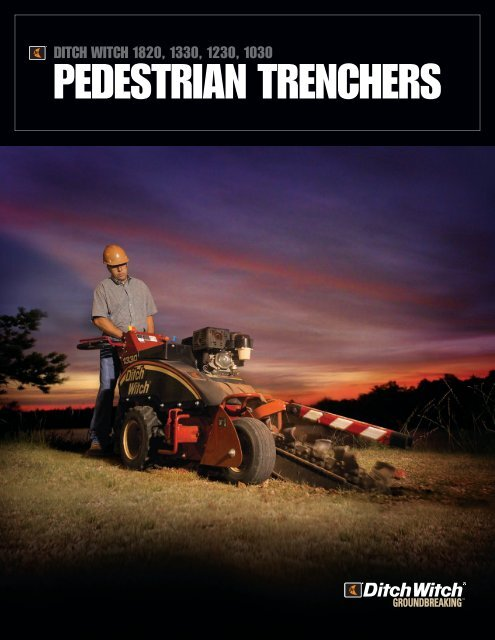 Ditch Witch pedestrian trencher literature - Ditch Witch
