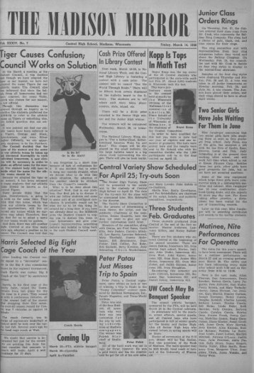 March 14, 1958 (The Madison Mirror, 1925 - 1969) - Dane County ...