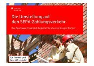 Firmenkunden-Präsentation - Sparkasse Osnabrück