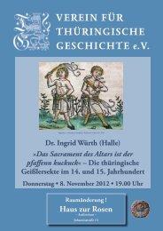 Dr. Ingrid Würth (Halle) - Verein für Thüringische Geschichte