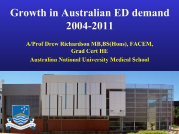 Growth in Australian ED demand 2004 to 2011