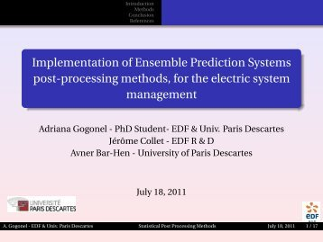 Implementation of Ensemble Prediction Systems post-processing ...