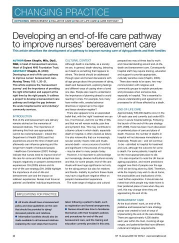 care after death guidance for care For care after death the guidance was developed by a broad partnership of national care after death policy/procedural guidelines for the acute setting 3 6 ().