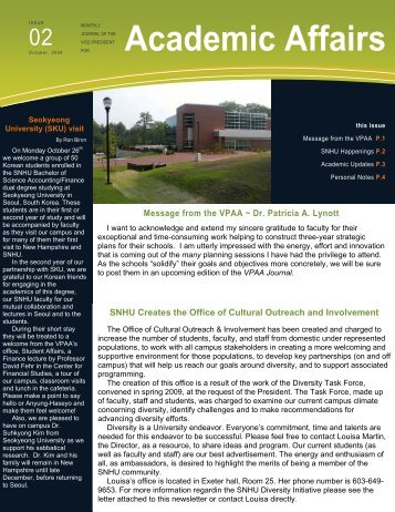 Academic Affairs - SNHU Academic Archive - Southern New ...