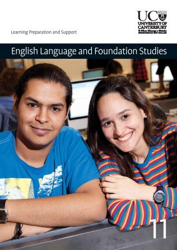 English Language and Foundation Studies - University of Canterbury