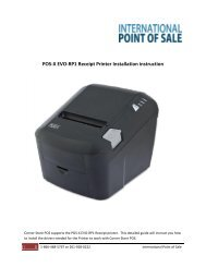 Installing the Posiflex PP 7000 II Thermal Printer - Corner