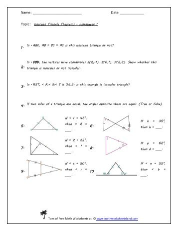 4.4 Isosceles Triangle Theorems | Math, geometry, Triangles ...
