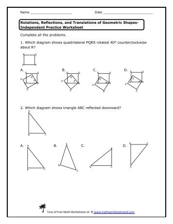 Time Word Problem Worksheets Word Identifying Transformations  Worksheet  It    Answerspdf Logarithms Worksheets Pdf with Multiplying 2 Digit Numbers By 1 Digit Numbers Worksheets Pdf Practice Worksheet  Math Worksheets Land Fractions Worksheets For Class 5 Pdf