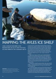 Mapping the Ayles Ice Shelf