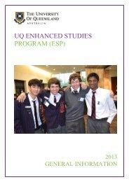 ESP Handbook - University of Queensland