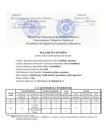361.1 Contabilitate - Universitatea Tehnică a Moldovei