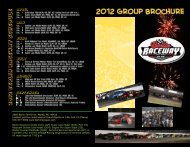 the group outing brochure - Berlin Raceway