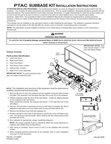 ptac control board kit rskp0006 installation instructions amana ptac installation manual amana ptac