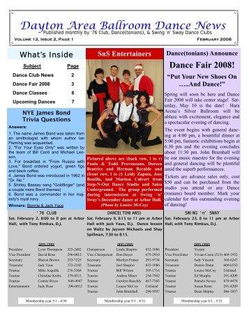 12 02February2008Newsletter - Ballroom Dance Dayton