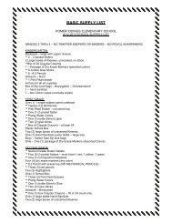 BASIC SUPPLY LIST - Merrillville Community School