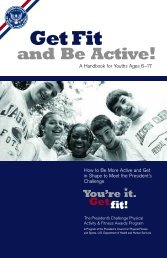 Get Fit and Be Active! Handbook (PDF) - The President's Challenge