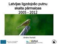 Latvijas ligzdojošo putnu skaita pārmaiņas 2005