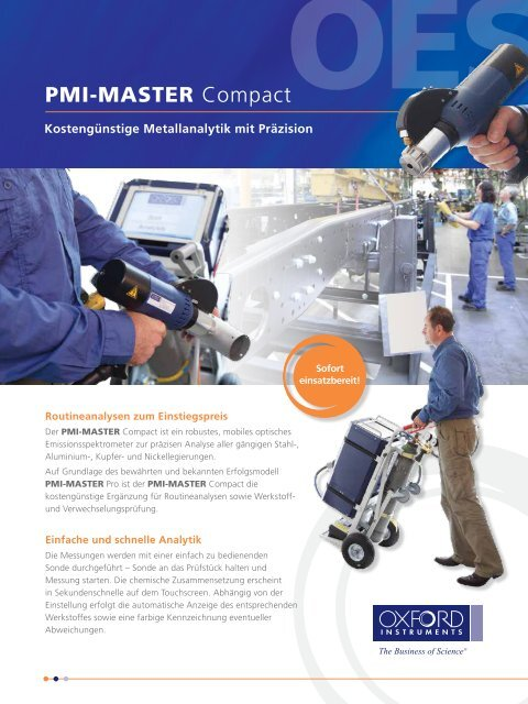 PMI-MASTER Compact Flyer - Oxford Instruments