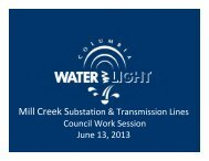Mill Creek Substation & Transmission Lines Council Work Session ...