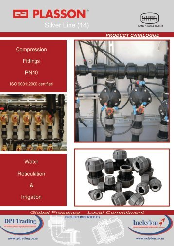 Plasson Compression Fittings PN10 SA Catalogue - Incledon