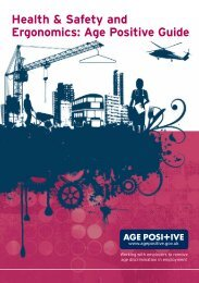 Health & Safety and Ergonomics: Age Positive Guide - Age Inclusive