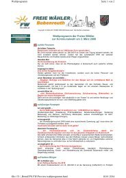 FW Wahlprogramm_2008 - Freie Wähler Bubenreuth