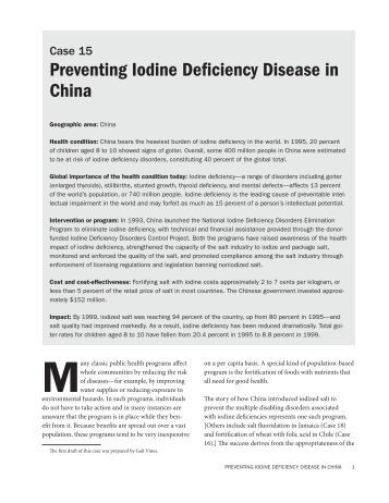iodine deficiency diseases essay Write an essay of at least 350 words that explains the basic osteoporosis, anemia or iodine deficiency disorders for and how the disease is managed.