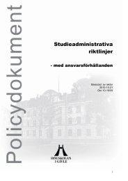 HÖGSKOLAN I BORÅS BESLUT 1 (25) - Högskolan i Gävle