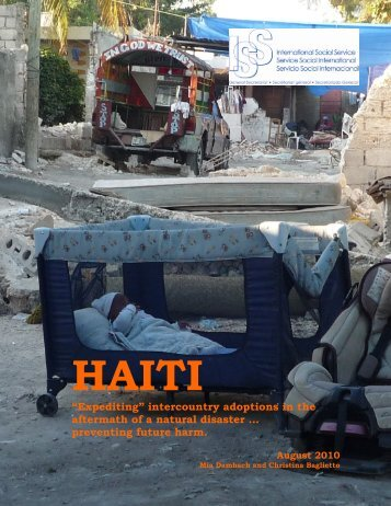 "Haiti: ""Expediting"" Intercountry Adoptions in the Aftermath of - ISS SSI"