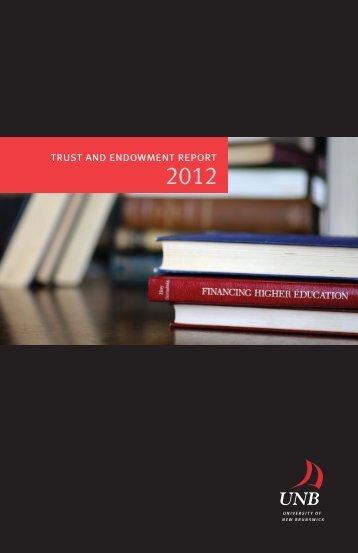2012 - University of New Brunswick
