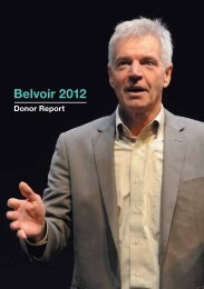 2012 Donors Report - Belvoir St Theatre