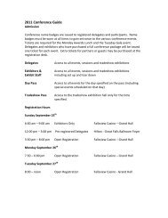 2011 Conference Guide - Canadian Parking Association