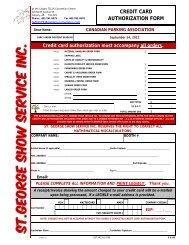 signage order form - Canadian Parking Association