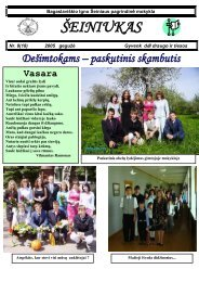 2005-05, Nr.18 - Bagaslaviškio Igno Šeiniaus pagrindinė mokykla