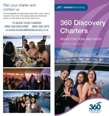 View Brochure - 360 Discovery Cruises