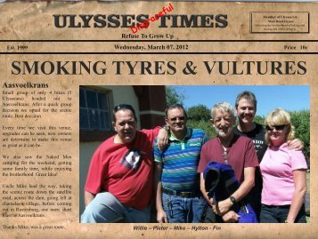 SMOKING TYRES & VULTURES - Ulysses SA