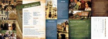 Oxbridge 2011 Brochure - CS Lewis Foundation