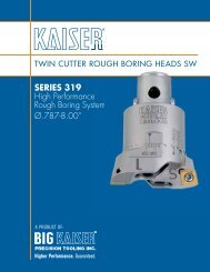 SERIES 319 High Performance Rough Boring System Ų ... - Big Kaiser