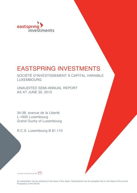 EASTSPRING INVESTMENTS - Prudential Singapore
