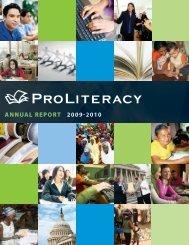 ANNUAL REPORT 2009-2010 - ProLiteracy