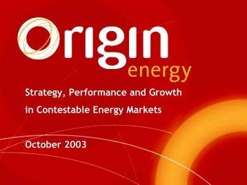 Presentation to CSFB Asian Energy Conference - Origin Energy