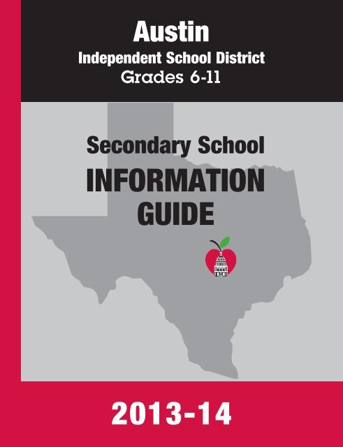 Secondary School Information Guide - Austin ISD