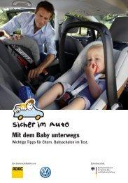 Mit dem Baby unterwegs - Sicher im Auto