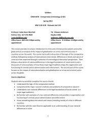 1 Syllabus CRIM 4670 Comparative Criminology (3 SH) Spring ...