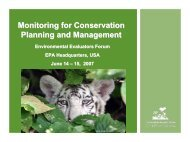 Monitoring for Conservation Planning and Management