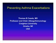 Preventing Asthma Exacerbations - World Allergy Organization