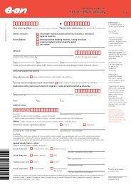 Žádost o změnu smlouvy pro Domácnosti / Podnikatelé - E.ON