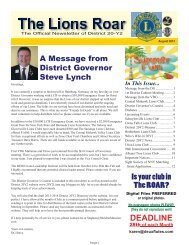 August 2013.indd - The Lions Clubs of District 20Y2